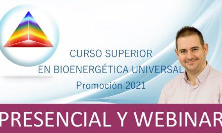 Curso Superior en Bioenergética Universal (Promoción 2021)