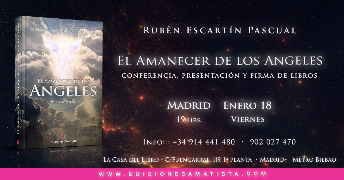 """Madrid – Presentación del libro """"El Amanecer de los Ángeles"""""""