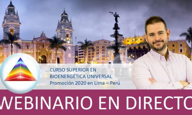 Curso Superior en Bioenergética Universal (Promoción 2020 en Lima / Perú) – formato webinario en grupo